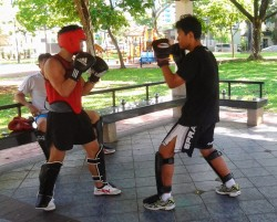 Wing-Chun-Singapore-sparring
