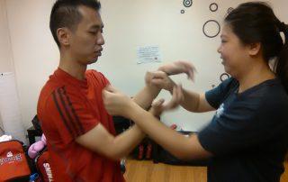 Wing-Chun-Singapore-students-practice-Chi-Sao